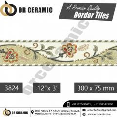 Multicolor Ceramic Digital Border Tiles Manufacturer
