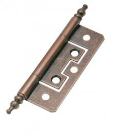 Flush Finial Hinge Florentine Bronze 75mm Pair