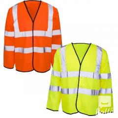 Hi Viz Long Sleeved Safety Vest Workwear