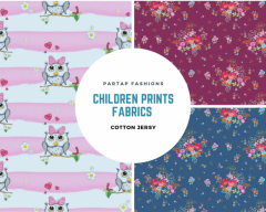 Buy Wholesale Children Prints Cotton Jersey Fabrics UK
