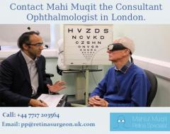 Contact Mahi Muqit the Consultant Ophthalmologist