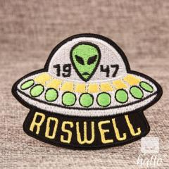 Alien In The UFO Custom Embroidered Patches