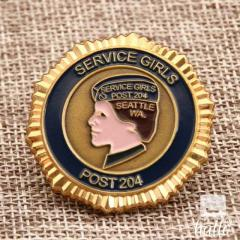 Military Coins  Service Girl Challenge Coins