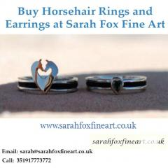 Buy Horsehair rings and earrings at Sarah Fox Fine Art