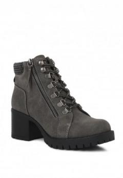 Buy Stacked Heel Ankle Boots at London Rag