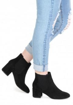Buy Block Heel Ankle Chelsea Boots at London Rag