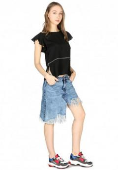 Buy Short Flutter Sleeve Casual Top at London Rag