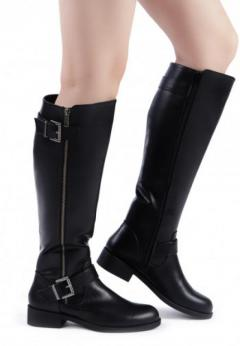 Buy Side Zipper Calf Boots at London Rag