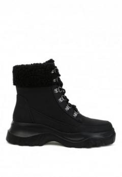 Buy Cushioned Collar Ankle Boots at London Rag