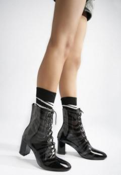 Buy Clear Lace Up Ankle Boots at London Rag