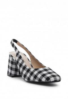 Buy Gingham Check Heeled Slingback at London Rag