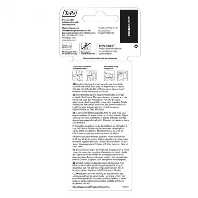Buy TePe Angle 0.8mm Green Interdental Brush by Nieboo 6 Image