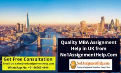 Quality MBA Assignment Help in UK from Talented Writers