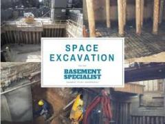 For Basement Construction contact Space Excavation