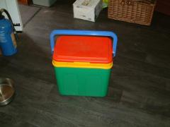 large ice box with ice bags for sale
