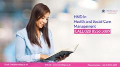 HND in Health and social care
