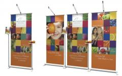Adaptable Portable Banner Exhibition Stands