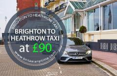 Hire Brighton to Heathrow Taxi Only at £100