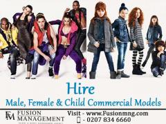Hire Male, Female & Child Commercial Models