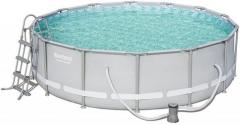Power Steel Metal Frame Round 14Ft Pool