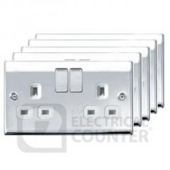 Polished Chrome Double Socket  - The Electrical Counter