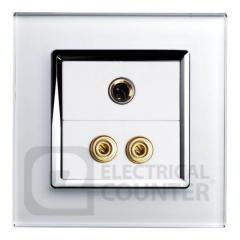 Retrotouch White MicAudio Socket with Chrome Trim