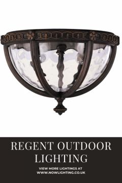 Regent Court 2 Light Flush Lantern - Nowlighting