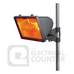Knightsbridge Black Outdoor Infrared Heater