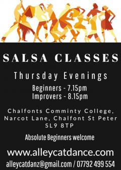 Salsa Dance Classes every Thursday evening