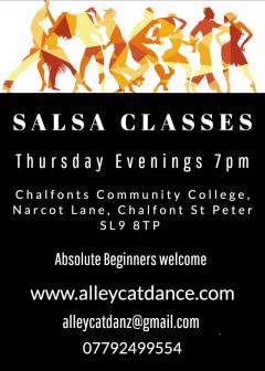 Salsa Dance Classes every Thursday evening