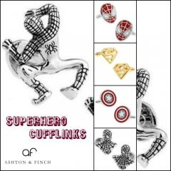 Superhero Cufflinks at Ashton and Finch