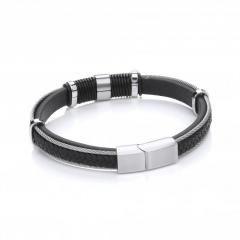 For Mens Leather Bracelets Visit Daviddeyong.co.