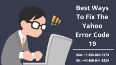 Dial 1-855-869-7373  Fix Yahoo Error Code 19