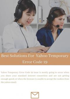 Best Solutions For  Yahoo Temporary Error Code 1