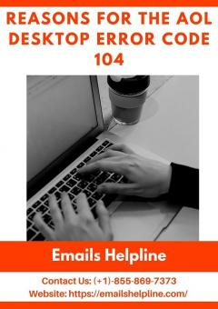 Solutions For The Aol Desktop Error Code 104