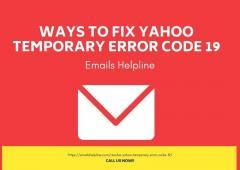 Ways To Fix Yahoo Temporary Error Code 19