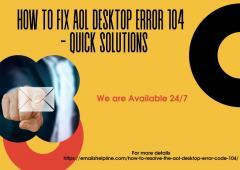 How To Fix Aol Desktop Error 104  - Quick Soluti
