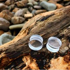 Buy Clear Glass Plug From Sacred Skin Body Jewellery