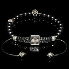 Lion & Onyx Bracelet Focusing on Discipline-Self-Master