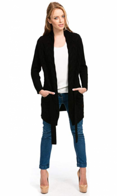 Long Chunky Knit Cardigan for Women by Citizen Cashmere