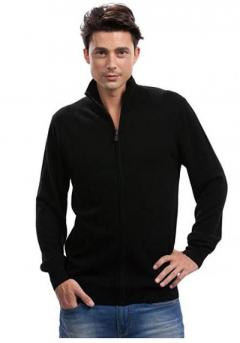 Citizen Cashmere Long Sleeve Zip-Up Cardigan for Men