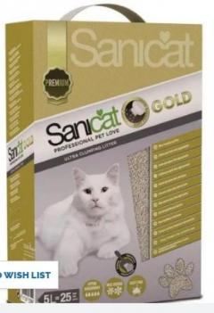 Sanicat Gold Ultra Clumping Cat Litter 5L