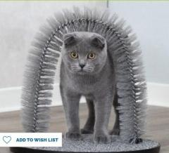 Massage And Self Grooming Fur Care Arch For Cats