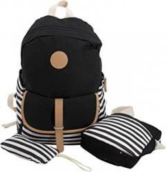 Shop Women Canvas Backpack Multi Zipper Travel Bags