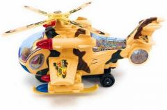 Hotstar Led Light Mini Army Helicopter Toy - Yellow