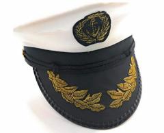 Captain Sailor Marine Hat Unisex - White