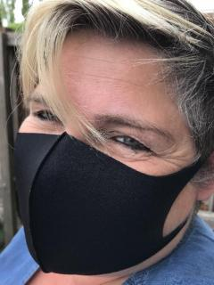 Washable and Resuseable Polyester Facemask black