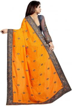 Women Embroidered Work Heavy Net Saree