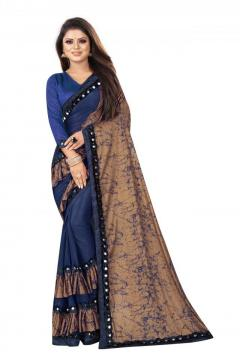 Womens Embellished Fashion Lycra Blend Saree