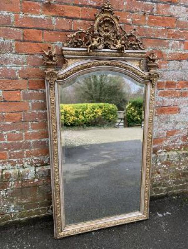 Large Antique Silver Mirror at Cleall Antiques UK 4 Image
